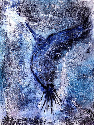 Painting - Blue Hummingbird by 'REA' Gallery