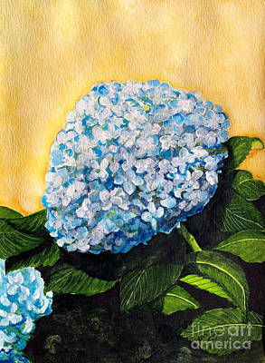 Painting - Blue Hydrangea  by Lance Crumley