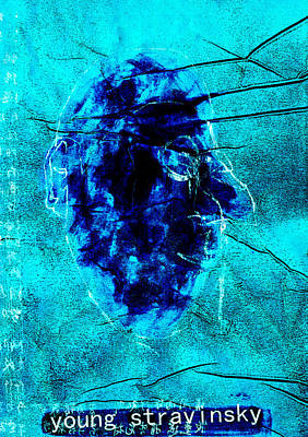 Relief - Blue Igor Stravinsky Almost Monocle by Artist Dot