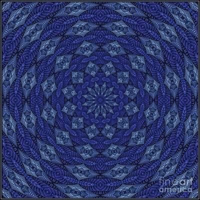 Digital Art - Blue K12-03062019-2 by Doug Morgan
