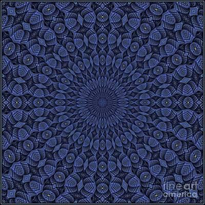 Digital Art - Blue K12-03062019-10 by Doug Morgan