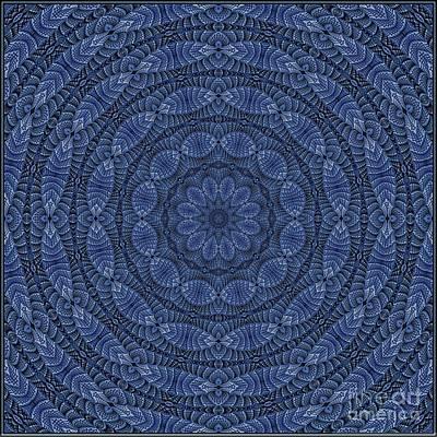 Digital Art - Blue K12-03062019-3 by Doug Morgan