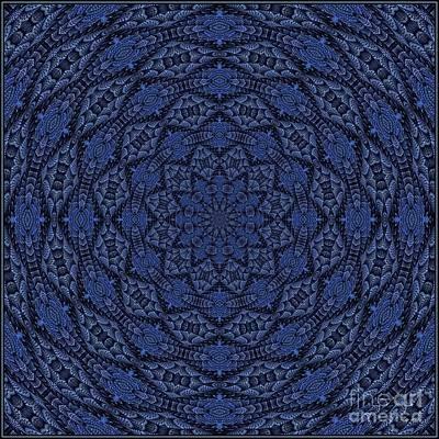 Digital Art - Blue K12-03062019-4 by Doug Morgan
