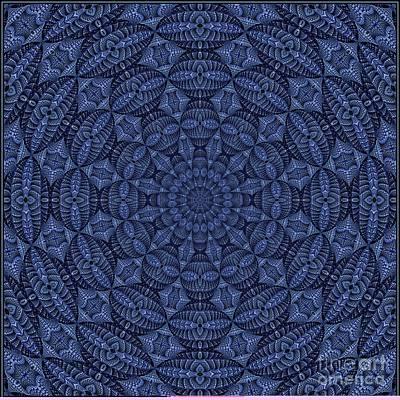 Digital Art - Blue K12-03062019-6 by Doug Morgan