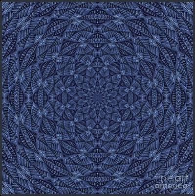 Digital Art - Blue K1203062019-5 by Doug Morgan