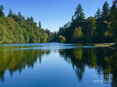 Photograph - Blue Lake Reflections  by Suzanne Lorenz
