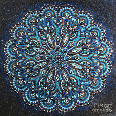 Painting - Blue Mandala by Amy E Fraser