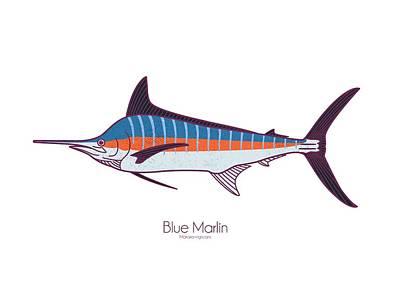 Digital Art - Blue Marlin by Kevin Putman