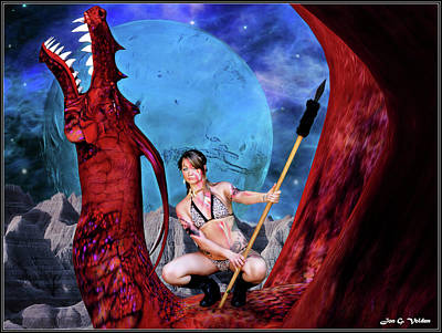 Photograph - Blue Moon And Red Dragon by Jon Volden