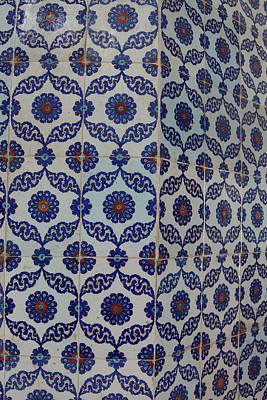 Water Droplets Sharon Johnstone - Blue mosaics decorating the Rustem Pasha Mosque by Steve Estvanik