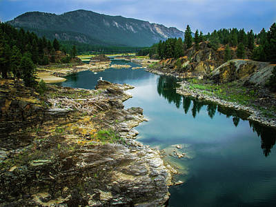 Photograph - Blue Mountain River by David Heilman