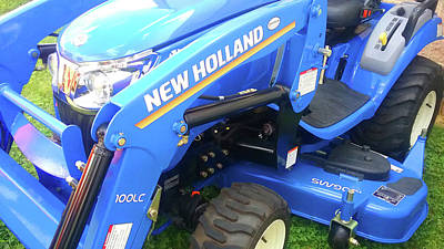 Target Threshold Nature - Blue New Holland Tractor by Emmy Marie Vickers