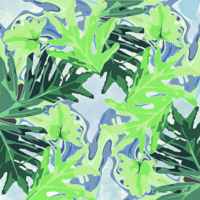 Digital Art - Blue Notes From The Tropics by Gina Harrison