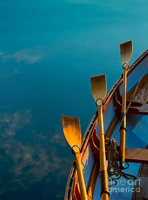Photograph - Blue Oars by Tom Gresham