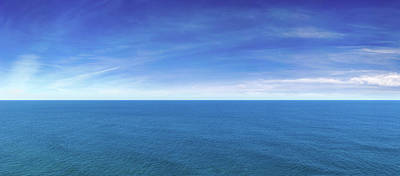 Photograph - Blue Ocean View Panorama by Turnervisual