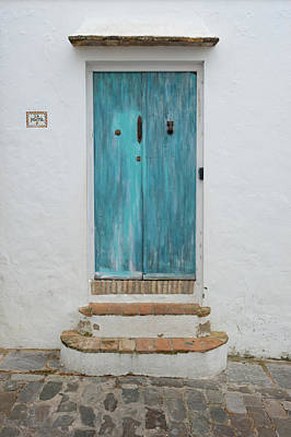 All You Need Is Love - Blue Painted Spanish Door by Helen Northcott