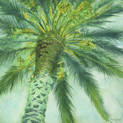 Painting - Blue Palm Tree by Sonserae Leese