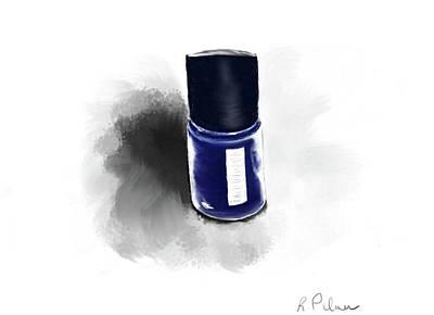 Digital Art - Blue Polish by Rachel Palmer