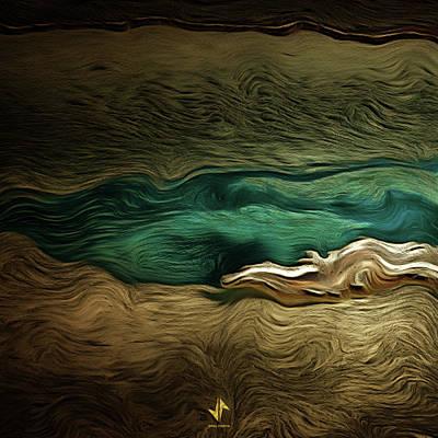 Digital Art - Blue Pond by Viral Padiya