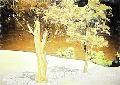Painting - Blue Ridge Autumn In A Winter Snow Ap by Dan Carmichael