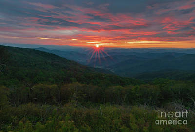 Stellar Interstellar Royalty Free Images - Blue Ridge Layered Sunset Royalty-Free Image by Norma Brandsberg