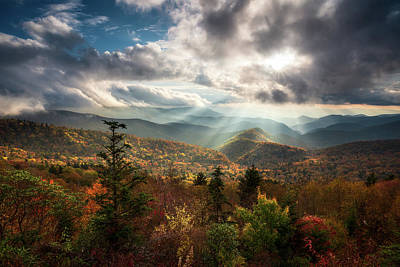 Mountain Royalty-Free and Rights-Managed Images - Blue Ridge Mountains Asheville NC Scenic Autumn Landscape Photography by Dave Allen