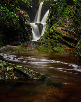 Photograph - Blue Ridge Mountains Waterfalls - Duggers Creek Falls by Mike Koenig