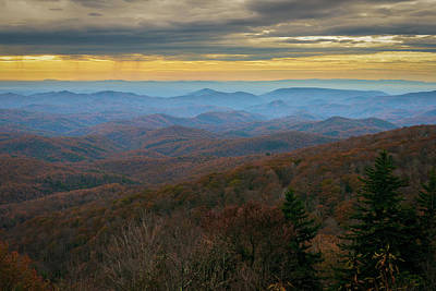 Blue Ridge Parkway - Blue Ridge Mountains - Autumn Art Print