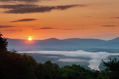 Photograph - Blue Ridge Sunrise End Of Summer by Lara Ellis