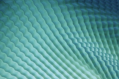 Photograph - Blue Shadows And Waves Abstract by Jcarroll-images