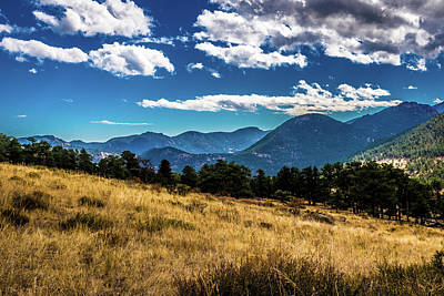 Photograph - Blue Skies And Mountains by James L Bartlett