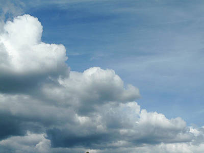 Photograph - Blue Sky, White Clouds by Kathleen Gauthier
