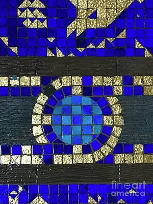 Photograph - Blue Tile Detail by Suzanne Lorenz