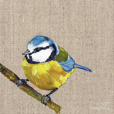 Painting - Blue Tit by Jeanette House