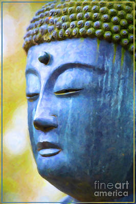 Photograph - Blue Tone Buddha by Tim Gainey