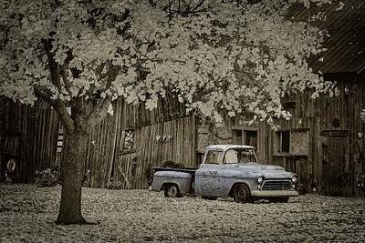 Photograph - Blue Truck by David Heilman