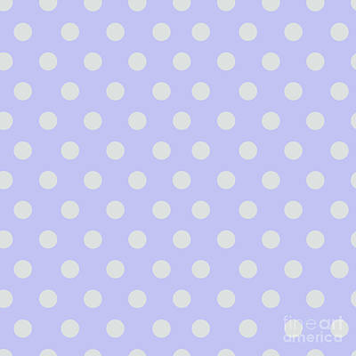 1-war Is Hell Royalty Free Images - Blue Ultra Soft Lavender Polka Dots Pattern Royalty-Free Image by Sharon Mau