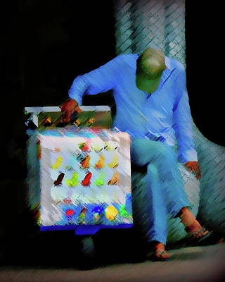 All American - Blue Vendor by Robert Frank Gabriel