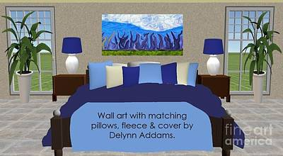 Digital Art - Blue Wall Art Home Decor By Delynn Addams by Delynn Addams