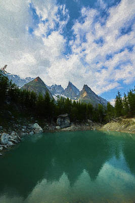 Digital Art - Blue Waters Of The French Alps II by Jon Glaser