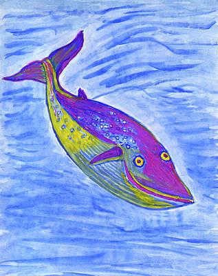 Painting - Blue Whale by Dobrotsvet Art