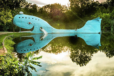 Photograph - Blue Whale Of Rt 66 - Catoosa Oklahoma by Gregory Ballos