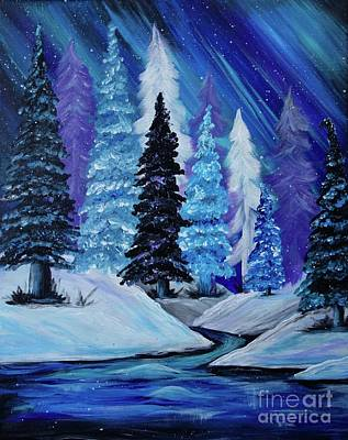 Painting - Blue Winter Aurora by Jacqueline Athmann