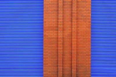 Photograph - Blue With Bricks by Stuart Allen