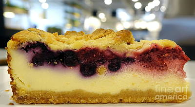 Photograph - Blueberry Cheesecake With Crumbs by Yali Shi