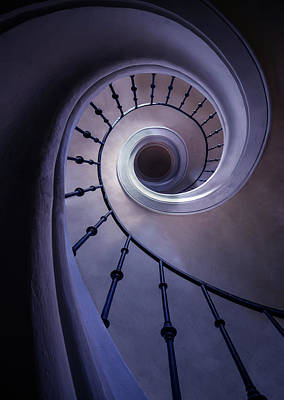 Photograph - Blueberry Spiral Staircase by Jaroslaw Blaminsky