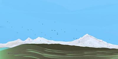 Digital Art - Bluebirds Return by Kae Cheatham