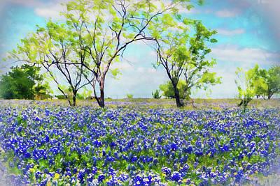 Painting - Bluebonnet Texas - 07 by Andrea Mazzocchetti