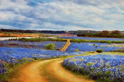 Painting - Bluebonnet Texas - 08 by Andrea Mazzocchetti
