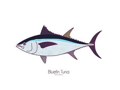 Digital Art - Bluefin Tuna by Kevin Putman